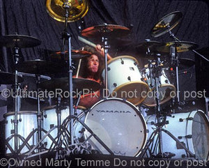 Photos of Drummer Tommy Aldridge of Pat Travers, Ozzy Osbourne and Ted Nugent in Concert by Marty Temme