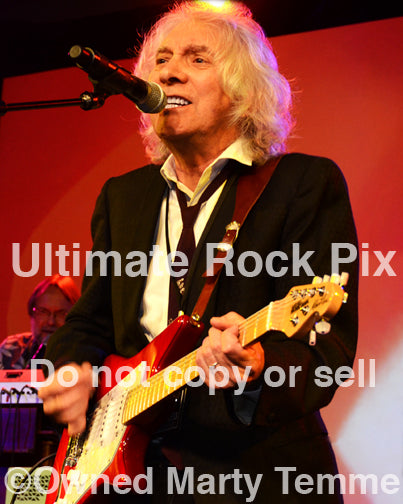 Photo of guitar player Albert Lee in concert in 2012 by Marty Temme