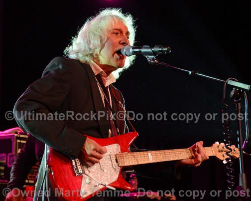 Photo of guitarist Albert Lee in concert in 2012 by Marty Temme