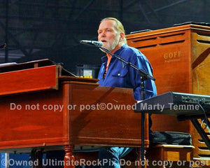 Photos of Musician Gregg Allman of The Allman Brothers Playing Keyboard in Concert by Marty Temme