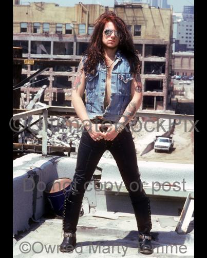 Photos of Singer-Guitarist Ricky Warwick of The Almighty During a Photo Shoot in Los Angeles, California in 1990 by Marty Temme