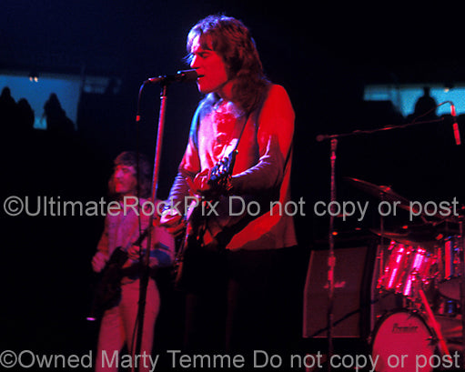 Photo of Alvin Lee of Ten Years After in concert in 1973 by Marty Temme