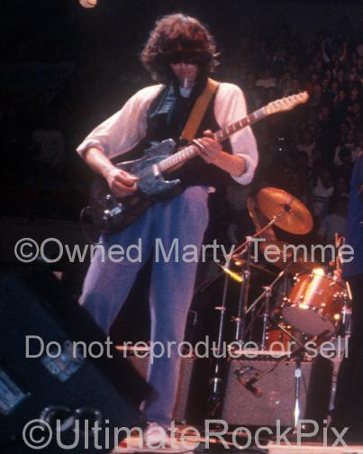 Photos of Jimmy Page of Led Zeppelin Playing a Fender Telecaster at The Arms Benefit Concert in 1983 by Marty Temme