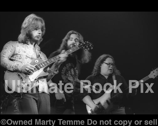 Photo of Ronnie Hammond, Barry Bailey and Paul Goddard of Atlanta Rhythm Section in 1978 by Marty Temme