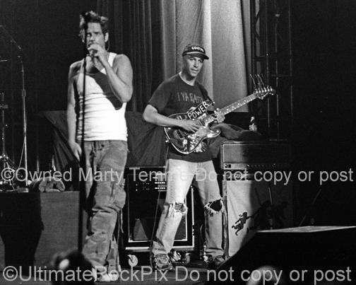 Photos of Chris Cornell and Tom Morello of Audioslave in Concert in 2006 by Marty Temme