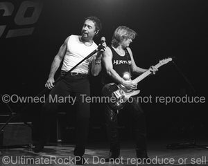Photo of Paul Rodgers and Dave Colwell of Bad Company in 2001 by Marty Temme