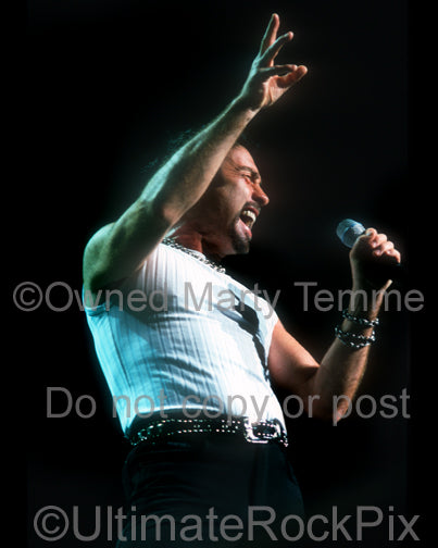 Photo of Paul Rodgers of Bad Company in concert in 2001 by Marty Temme