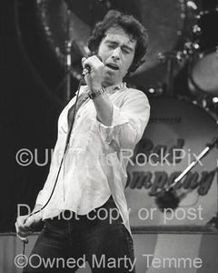 Photos of Paul Rodgers of Bad Company Singing Onstage in 1979 by Marty Temme