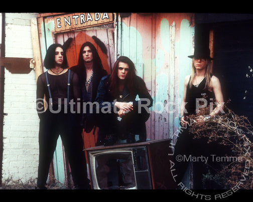 Photo of the band Blackboard Jungle during a photo shoot in 1991 by Marty Temme