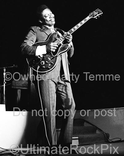 Photos of Blues Guitar Legend BB King in Concert in the 1970's by Marty Temme