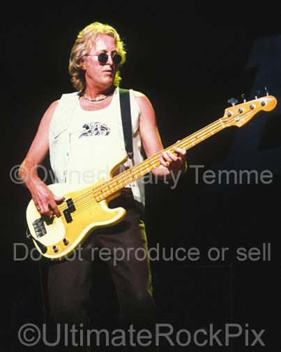 Photos of Bassist Rick Wills of Bad Company in 2001 by Marty Temme