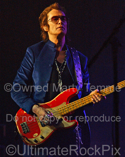 Photo of Glenn Hughes of Deep Purple in concert in 2011 by Marty Temme