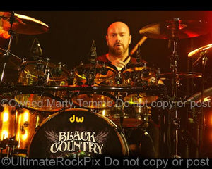 Photo of drummer Jason Bonham of Black Country Communion in concert in 2011 by Marty Temme