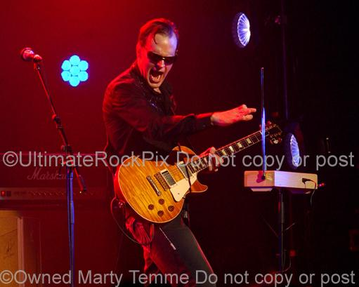 Photos of Joe Bonamassa Playing a Theremin in Concert by Photographer Marty Temme