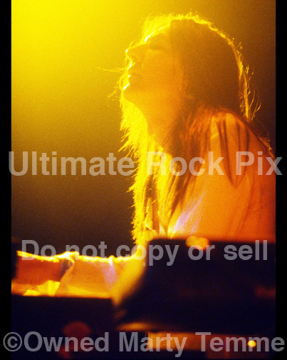 Art Print of Eddie Harsch of The Black Crowes in concert in 1998 by Marty Temme