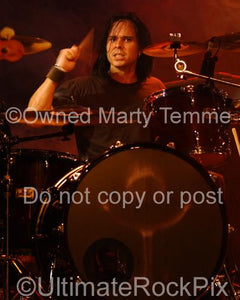 Photos of Drummer Bevan Davies in 2007 by Marty Temme
