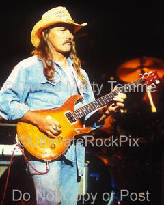 Photos of Guitar Player Dickey Betts of The Allman Brothers Playing in Concert by Marty Temme