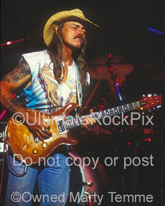 Photos of Guitar Player Dickey Betts of The Allman Brothers in Concert in 1994 by Marty Temme