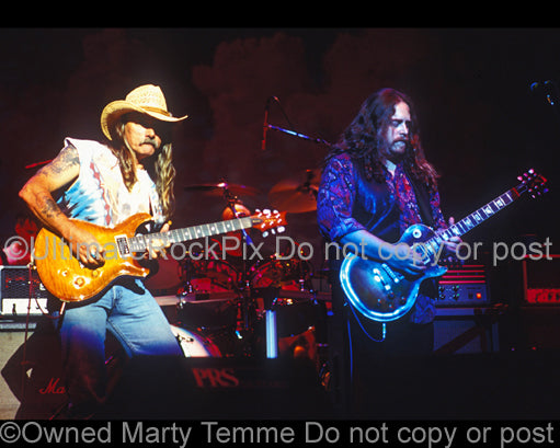 Photo of Warren Haynes and Dickey Betts of The Allman Brothers in 1994 by Marty Temme