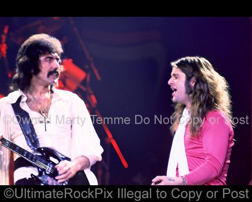 Photos of Tony Iommi and Ozzy Osbourne of Black Sabbath in Concert in 1978 by Marty Temme