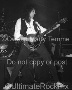 Black and White Photos of Brian May of Queen in Concert in 1993 by Marty Temme