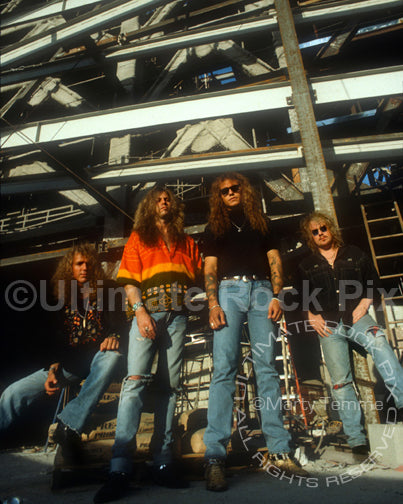 Photo of the band Bonham during a photo shoot in 1992 by Marty Temme