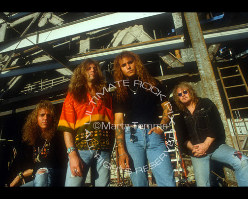 Photo of Jason Bonham and the band Bonham during a photo shoot in 1992 by Marty Temme