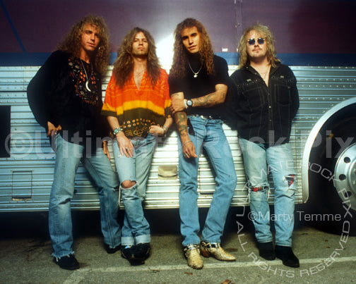 Photo of the band Bonham during a photo shoot in 1992 - bonham9229