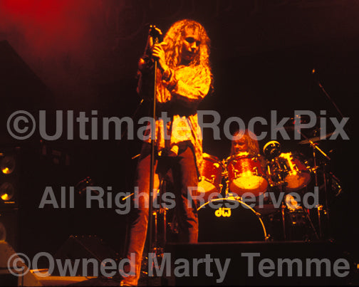 Photo of Daniel MacMaster and Bonham in concert in 1992 by Marty Temme