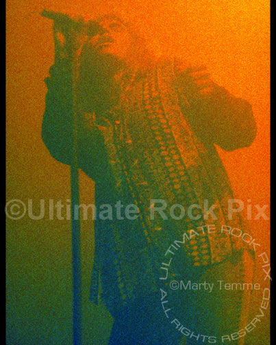 Art Print of singer Daniel MacMaster of Bonham in concert in 1992 by Marty Temme