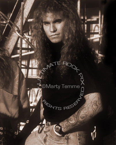 Art Print of singer Daniel MacMaster of Bonham during a photo shoot in 1992 by Marty Temme