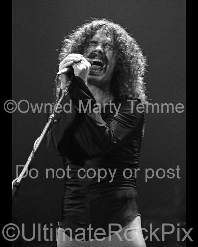 Photos of Brad Delp of the Band Boston Onstage in 1979 by Marty Temme