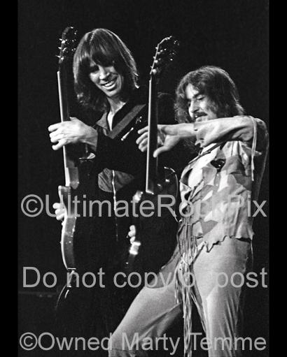 Photos of Tom Scholz and Barry Goudreau of Boston Performing Together in Concert in 1979