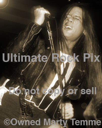 Art Print of Bruce Dickinson of Iron Maiden performing in concert in 1994 by Marty Temme