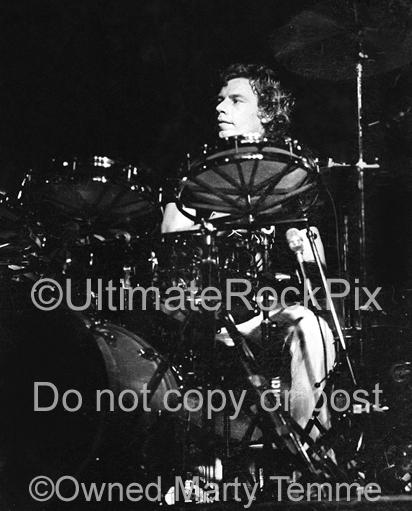 Photos of Drummer Bill Bruford of Yes and King Crimson in Concert in 1980 by Marty Temme