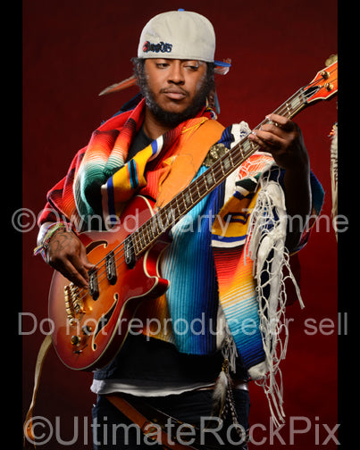 Photo of musician Stephen Thundercat Bruner during a photo shoot by Marty Temme