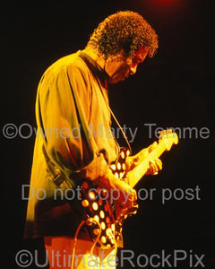 Photos of Guitar Player Buddy Guy Playing a Fender Stratocaster in Concert by Marty Temme