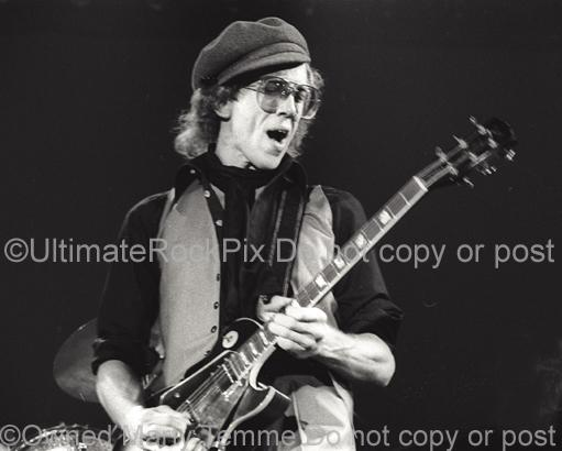 Photos of Guitar Player Bob Welch Playing a Gibson Les Paul in Concert in 1978 by Marty Temme