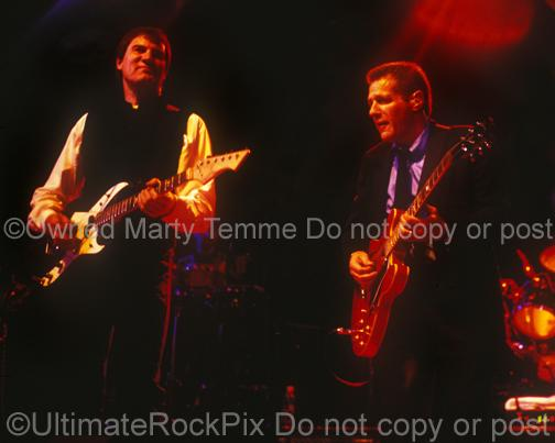 Photos of Max Carl and Glenn Frey of The Eagles in Concert in 1998 by Marty Temme