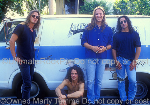 Photo of Kevin Martin and Candlebox during a photo shoot in 1993 by Marty Temme