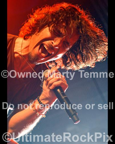 Photos of Chris Cornell of Soundgarden and Temple of the Dog