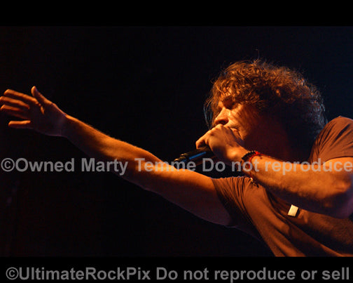 Photo of Chris Cornell of Soundgarden in concert in 2008 by Marty Temme