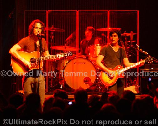 Photos of Chris Cornell, Pete Thorn and Jason Sutter in Concert in 2008 by Marty Temme