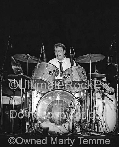 Black and White Photos of Drummer Bun E. Carlos in Concert in 1979 by Marty Temme