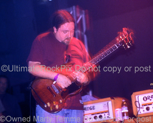 Photo of guitarist Tim Sult of Clutch in concert by Marty Temme