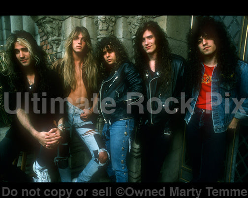 Photo of the band Cold Sweat during a photo shoot in 1990 by Marty Temme