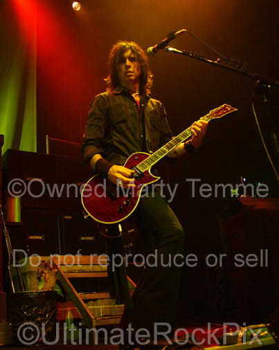 Photo of Damon Johnson of Alice Cooper, Thin Lizzy and Black Star Riders in concert by Marty Temme