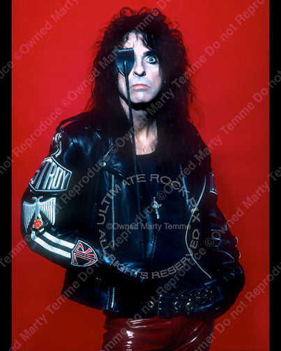 Limited Edition Print of Alice Cooper in 1990 by Marty Temme