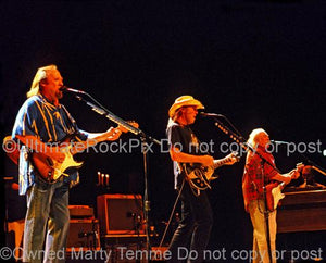 Photos of Stephen Stills, Neil Young and David Crosby in Concert by Marty Temme