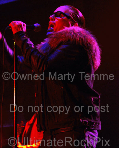 Photo of Ian Astbury of The Cult in concert in 2012 by Marty Temme
